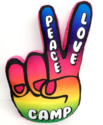 Image Peace Hand Autograph Pillow