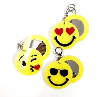 Image Lucite Emoji Mirror Keychain