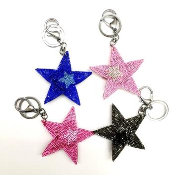 Image Rhinestone Star with Star Keychain