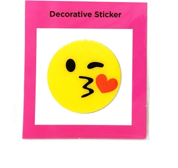 Image Metal Sticker Kissy Face