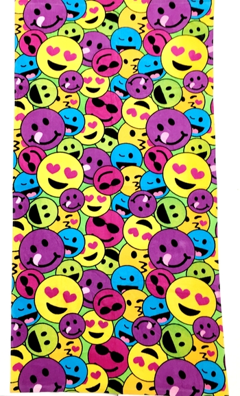 Image Rainbow Emojis Towel