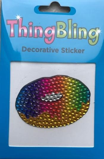Image Rhinestone Rainbow Donut Thing Bling