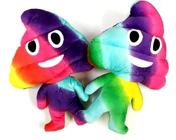 Image Rainbow Man Poop Plush Pillow