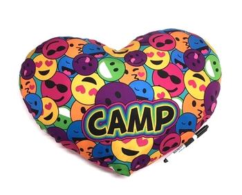 Image Smile Heart Camp Autograph  Pillow