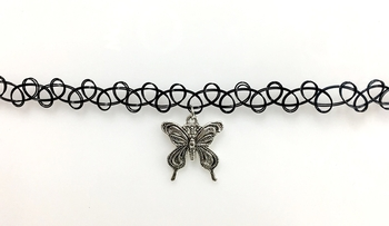 Image Tattooz with Butterfly Choker
