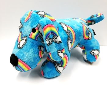 Image Blue Rainbow Clouds  Fuzzie Puppy