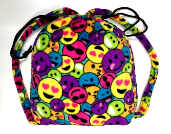 Image Fuzzie Multi Emoji Blanket Backpack