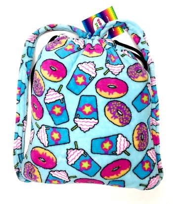 Image Fuzzie Donut & Frap Blanket Backpack
