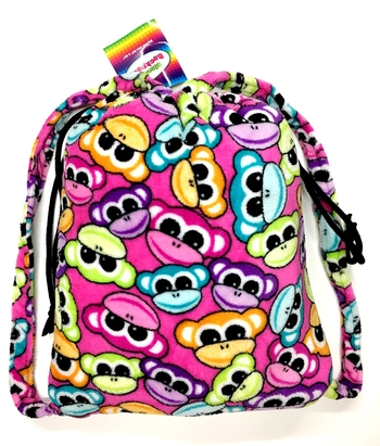 Image Fuzzie Monkey Blanket Backpack