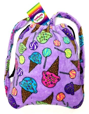 Image Fuzzie Lolli & Cones Blanket Backpack