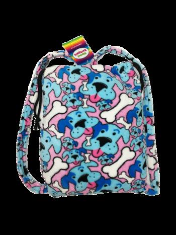 Image Fuzzie Blue Puppy Blanket Backpack
