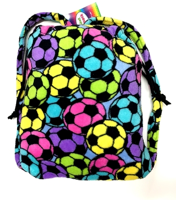 Image Soccer Fuzzie Blanket Backpack
