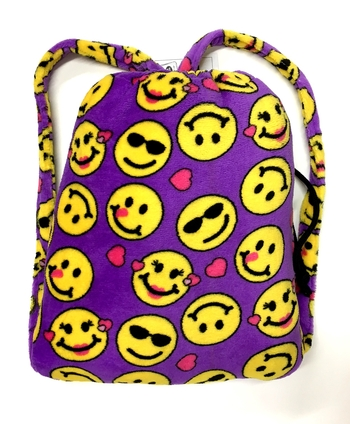 Image Purple Emoji Blanket Backpack