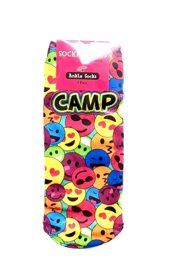 Image Multi Rainbow Camp Emoji Socks
