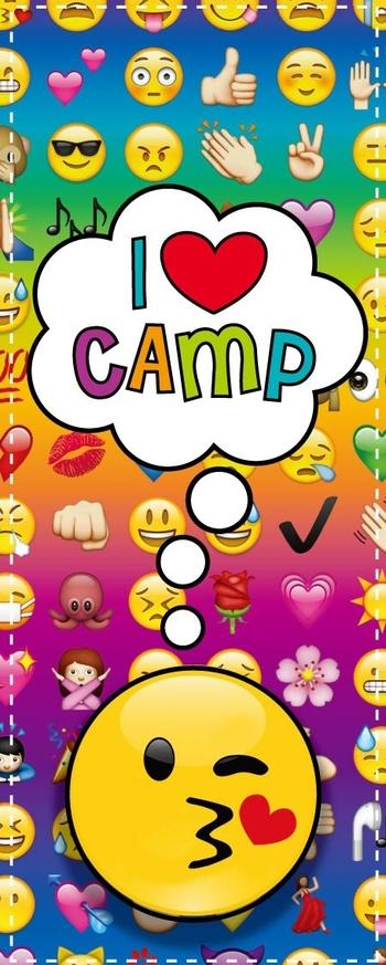 Image I Love Camp Multi Emoji Socks