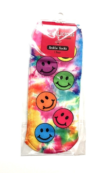 Image Pastel Smiley Sock