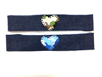 Image Denim Camouflage Heart Headband