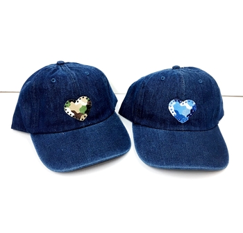 Image Denim Baseball Hat Camouflage Heart