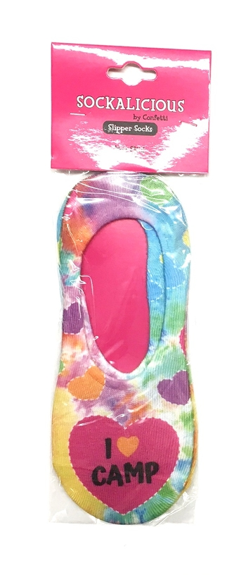 Image I Love Camp Heart Slipper Sock