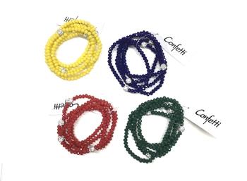 Image Beaded Shamballa Bracelet Set
