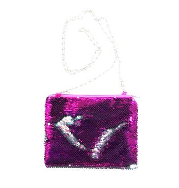 Image Sequin Purse with Chain
