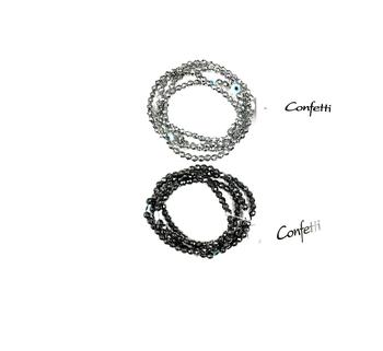Image Hematite Evil Eye Bracelet Set