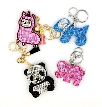 Image Animal Rhinestone Keychains