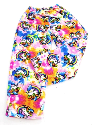 Image Rainbow Unicorn Fuzzie Pants