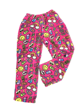 Image Pink Patches Fuzzie Pant