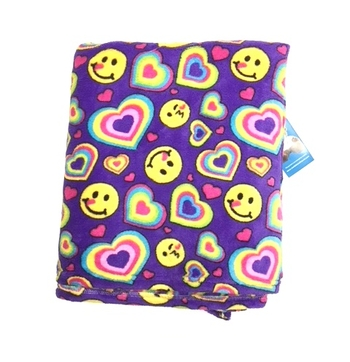 Image Emoji Heart Fuzzie Blanket