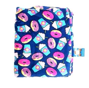 Image Blue Donut & Frap Fuzzie Blanket