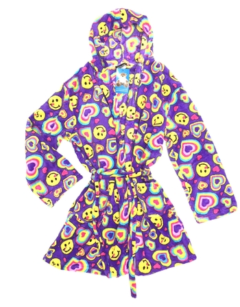 Image Smile Heart Fuzzie Robe
