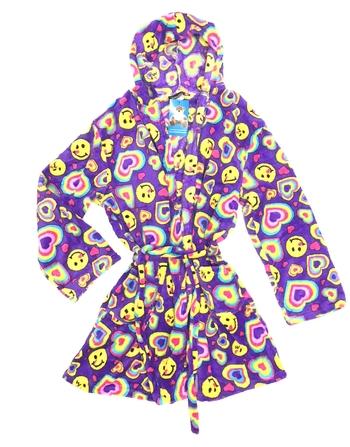 Image Smile Heart Fuzzie Robe