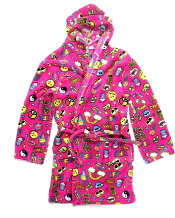 Image Pink Patches Fuzzie Robe