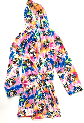 Image Rainbow Unicorn Fuzzie Robe