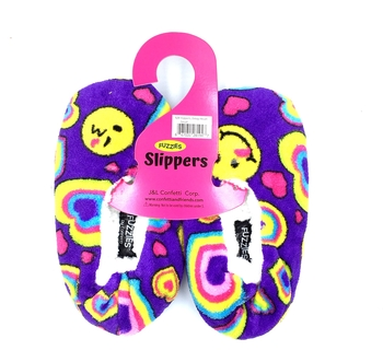 Image Smile Heart Fuzzie Slippers