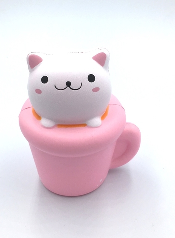 Image Cat in Coffee Cup  Squishie