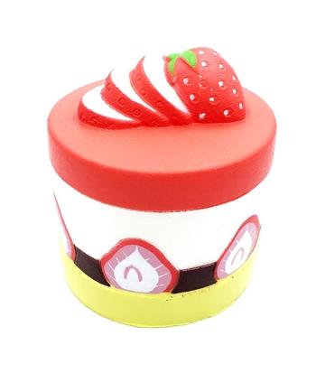 Image Round Strawberry Cake Squishie
