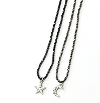 Image Beaded Moon & Star Choker