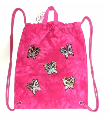 Image Sequin Butterfly Jersey Sling Bag