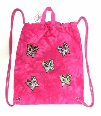 Image Sequin Butterfly Denim Sling Bag