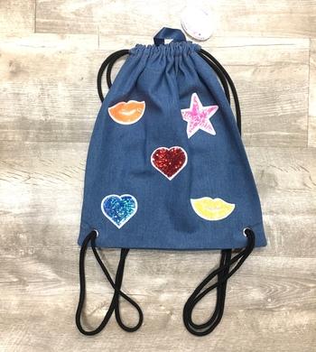 Image Sequin Patch Sling Bag