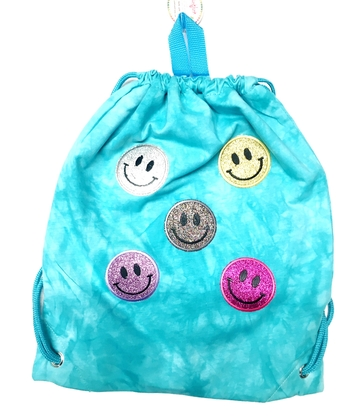 Image Sparkle Jersey Smile Drawstring Bag