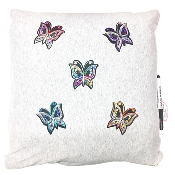 Image Butterfly Sequin Autograph Pillow