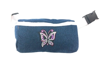 Image Butterfly Denim Fanny Pack