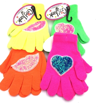 Image Neon Sequin Gloves