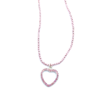 Image Rhinestone Heart on Beaded Choker
