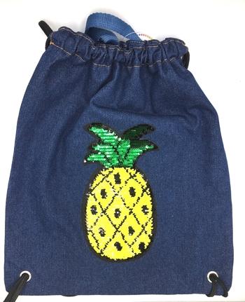 Image Denim Reversible Sequin Pineapple