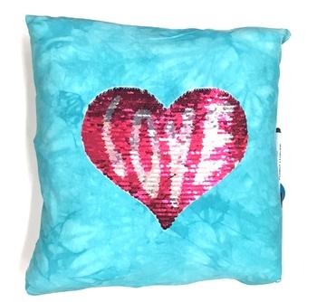 Image Sequin Love Patch Autograph Pillow