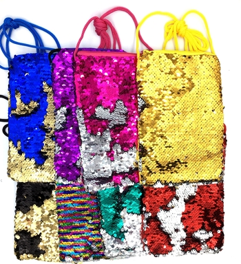 Image Sequin Color Changing Cell Bag